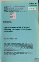 Appropriating the Work of Women s Mourning