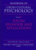 Handbook Of Cross Cultural Psychology Social Behavior And Applications