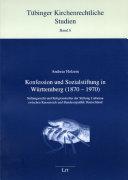 Konfession und Sozialstiftung in Württemberg, 1870-1970