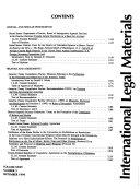International Legal Materials