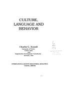 Culture  Language  and Behavior