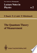 Cover image of The Quantum Theory of Measurement