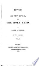 Letters On Egypt Edom And The Holy Land