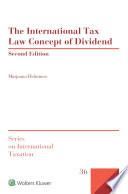 The International Tax Law Concept Of Dividend