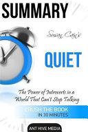 Susan Cain s Quiet Summary Book