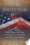 Before Sherlock Holmes Pdf/ePub eBook