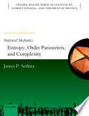 Statistical Mechanics  Entropy  Order Parameters  and Complexity