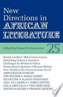 New Directions In African Literature
