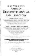 N W  Ayer   Son s American Newspaper Annual and Directory