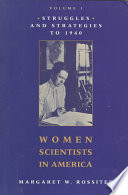 Women Scientists in America Book