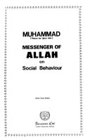 Muhammad  Peace be Upon Him  Messenger of Allah  on Social Behaviour Book