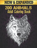 New 200 Animals Coloring Book Adult