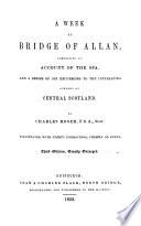 A week at Bridge of Allan