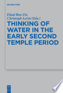 Thinking of Water in the Early Second Temple Period