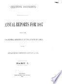 Annual Reports for ..., Made to the ... General Assembly of the State of Ohio ..