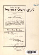 State of New York Supreme Court Appellate Division, Third Department