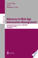 Advances in Web Age Information Management Book