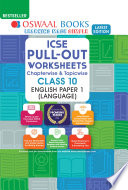 Oswaal ICSE Pullout Worksheets Chapterwise & Topicwise, Class 10, English Paper 1 (Language) (For 2021 Exam)