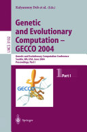 Genetic and Evolutionary Computation     GECCO 2004