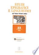 Studi epigrafici e linguistici sul Vicino Oriente antico