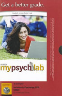 Invitation to Psychology Mypsychlab Student Access Code Card