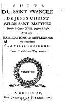 Le Saint Evangile De Jesus Christ Selon Saint Matthieu