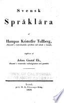 Svensk språklära