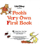 Walt Disney Productions' Pooh's Very Own First Book
