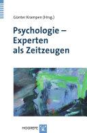 Psychologie - Experten als Zeitzeugen