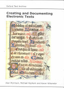 Creating And Documenting Electronic Texts Book PDF