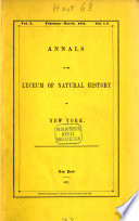 Annals of the Lyceum of Natural History of New York