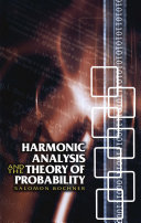Harmonic Analysis and the Theory of Probability