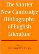 The Shorter New Cambridge Bibliography Of English Literature