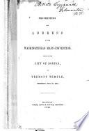Proceedings And Address Of The Washingtonian Mass Convention