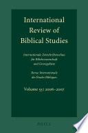 International Review Of Biblical Studies Volume 53 2006 2007