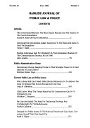 Hamline Journal of Public Law and Policy