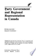 Party Government and Regional Representation in Canada