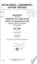 Hearings Before the Committee on Agriculture  House of Representatives  Eighty seventh Congress