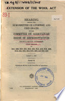 Extension of the Wool Act Book