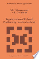 Regularization of Ill Posed Problems by Iteration Methods