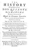 The History of the Renowned Don Quixote de la Mancha ...