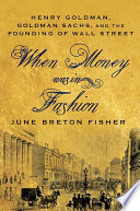 When Money Was In Fashion Book