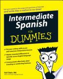 Intermediate Spanish For Dummies Book