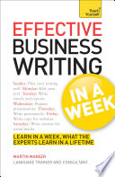 Effective Business Writing In A Week Teach Yourself
