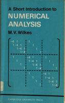 A Short Introduction to Numerical Analysis