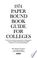 1974 Paperbound Book Guide for Colleges