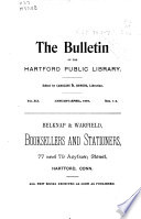 The Bulletin of the Hartford Public Library