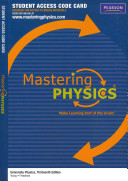 University Physics MasteringPhysics Access Code Card