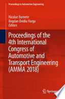 Proceedings Of The 4th International Congress Of Automotive And Transport Engineering Amma 2018  Book PDF