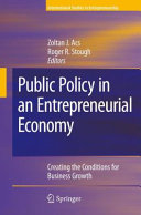 Pdf Public Policy in an Entrepreneurial Economy